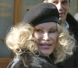 Jocelyn Wildenstein 'shows her face' in Soho, New York City, NY, USA, on March 4, 2005. Photo by Frank Ross/ABACA.    74445_01 New York City