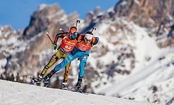 11.02.2017, Biathlonarena, Hochfilzen, AUT, IBU Weltmeisterschaften Biathlon, Hochfilzen 2017, Sprint Herren, im Bild Benedikt Doll (GER), Simon Desthieux (FRA) // Benedikt Doll of Germany, Simon Desthieux of France  during Men Sprint of the IBU Biathlon World Championships at the Biathlonarena in Hochfilzen, Austria on 2017/02/11. EXPA Pictures © 2017, PhotoCredit: EXPA/ JFK