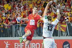 Filip Taleski of Macedonia during handball match between National teams of Macedonia and Czech Republic on Day 6 in Main Round of Men's EHF EURO 2018, on January 23, 2018 in Arena Varazdin, Varazdin, Croatia. Photo by Mario Horvat / Sportida