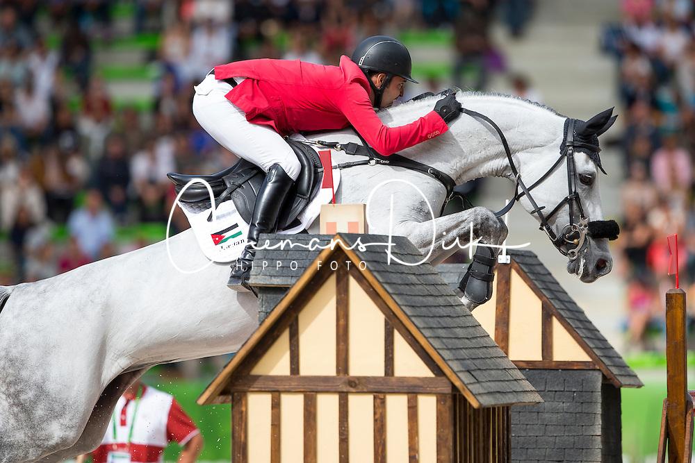 Ibrahim Bisharat, (JOR), Emmanuel - Team & Individual Competition Jumping Speed - Alltech FEI World Equestrian Games™ 2014 - Normandy, France.<br /> © Hippo Foto Team - Leanjo De Koster<br /> 02-09-14