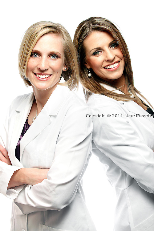 SHOT 2/23/11 4:54:32 PM - Portraits of Pearl Dentistry's Jayme Glamm and Stefanie Walker. The female dentists plan to open a practice in the Highlands area of Denver, Co. (Photo by Marc Piscotty / © 2011)