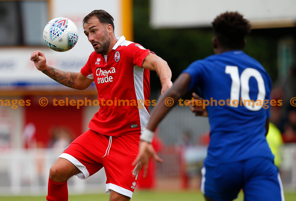 Josh Payne of Crawley during the pre season friendly between Crawley Town and Chelsea XI at the Checkatrade Stadium in Crawley. 15 Jul 2017