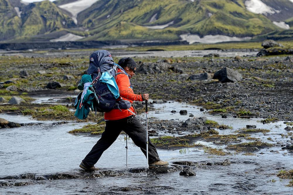 09-07-2014 ISL: Iceland Diabetes Challenge Dag 5, Emstrur<br /> Van Alftavatn naar Emstrur /