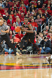 North Carolina State forward Abdul-Malik Abu. <br /> <br /> The University of Louisville hosted the North Carolina State, Saturday, Feb. 14, 2015 at the Yum Center in Louisville. NC State won 74-65.<br /> <br /> Photo by Jonathan Palmer