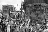 Dinnington, ASLEF and Treeton banners, 1985 Yorkshire Miner's Gala. Rotherham.