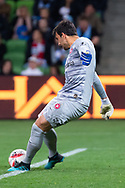 MELBOURNE, AUSTRALIA - SEPTEMBER 18: Daniel Lopar (1) of the Wanderers goes for a goal kick during the FFA Cup Quarter Finals match between Melbourne City FC and Western Sydney Wanderers FC at AAMI Park on September 18, 2019 in Melbourne, Australia. (Photo by Speed Media/Icon Sportswire)
