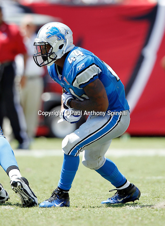Detroit Lions running back Jahvid Best (44) runs the ball during the NFL week 1 football game against the Tampa Bay Buccaneers on Sunday, September 11, 2011 in Tampa, Florida. The Lions won the game 27-20. ©Paul Anthony Spinelli