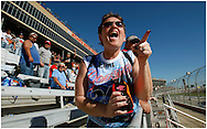 HAMPTON, GA: A NASCAR fan cheers  at the Pep Boys Auto 500 at Atlanta Motor Speedway on Sunday,10/26/08. ©2008 Johnny Crawford