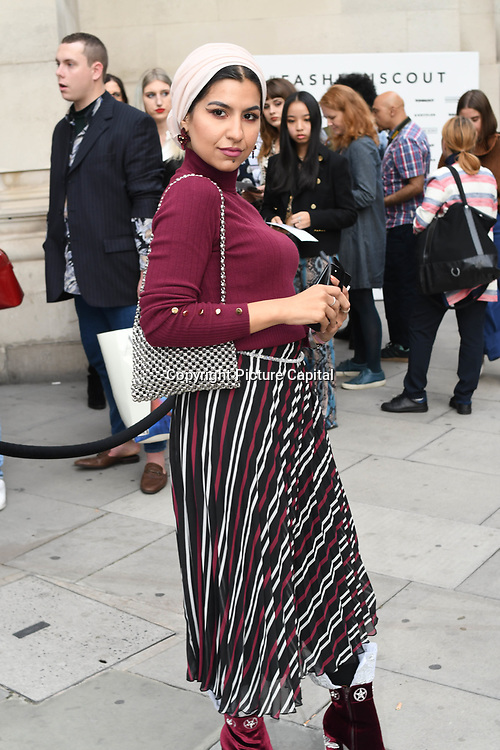 Eslam Gazelle - Eslamesaz attend Fashion Scout - SS19 - London Fashion Week - Day 2, London, UK. 15 September 2018.