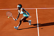 Roland Garros. Paris, France. May 29th 2012.American player Serena WILLIAMS against Virginie RAZZANO.