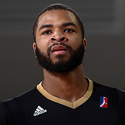 Erie BayHawks Guard AARON HARRISON (2) walks onto the floor in the first half of a NBA D-league regular season basketball game between the Delaware 87ers and the Erie BayHawks Tuesday, Mar. 29, 2016, at The Bob Carpenter Sports Convocation Center in Newark, DEL.