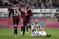 Gonzalo Higuain infortunio injured <br /> Torino 18-02-2018 Stadio Olimpico Grande Torino Calcio Serie A 2017/2018 Torino - Juventus Foto Image Sport / Insidefoto