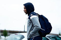 Gentry Thomas of Bristol Flyers heads towards the bus before leaving the Village Hotel to travel to Worcester Wolves - Photo mandatory by-line: Ryan Hiscott/JMP - 01/11/2019 - BASKETBALL - University of Worcester - Bristol, England - Worcester Wolves v Bristol Flyers - British Basketball League Cup