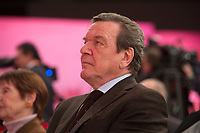 09 DEC 2012, HANNOVER/GERMANY:<br /> Gerhard Schroeder, SPD, Bundeskanzler a.D., SPD Bundesparteitag, Messe Hannover<br /> IMAGE: 20121209-01-204<br /> KEYWORDS: Parteitag, Party Congress