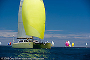Lickity Split, Gunboat, sailing Race 4 at Antigua Sailing Week.