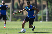 Forest Green Rovers Omar Bugiel(11) during the Forest Green Rovers Training session at Browns Sport and Leisure Club, Vilamoura, Portugal on 24 July 2017. Photo by Shane Healey.