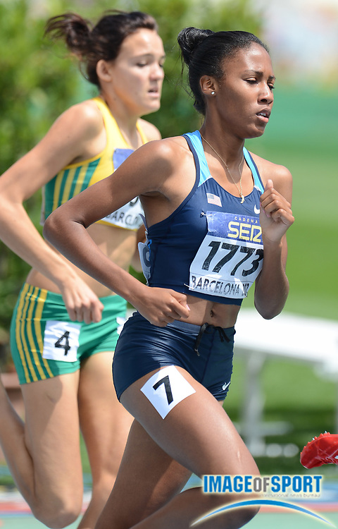 BARCELONA, Spain: Wednesday 11 July 2012, Ajee Wilson (USA) in the ladies 800m semi final during the morning session of day 2 of the IAAF World Junior Championships at the Estadi Olimpic de Montjuic.<br /> Mandatory Credit: Roger Sedres/Image SA-Image of Sport