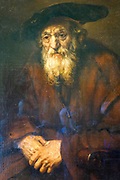 Portrait of an Old Jew, 1654. Artist: Rembrandt at the State Hermitage Museum. A museum of art and culture in Saint Petersburg, Russia. The largest and oldest museum in the world, it was founded in 1754 by Catherine the Great and has been open to the public since 1852.