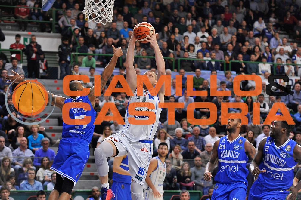 Tautvydas Lydeka<br /> Banco di Sardegna Dinamo Sassari - Enel New Basket Brindisi<br /> LegaBasket Serie A LBA Poste Mobile 2016/2017<br /> Sassari 02/04/2017<br /> Foto Ciamillo-Castoria