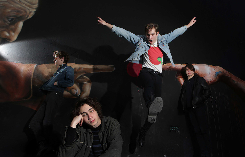 L-R, Cameron Holdstock, Benjamin Hannam, Daniel Muszynski, Sam Speck from the Aussie rock band - Glass Towers