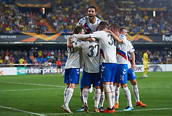 September 20, 2018 - Villarreal, Castellon, Spain - Rangers FC players celebrates a goal during the UEFA Europa League Group G match between Villarreal CF and Rangers FC at La Ceramica Stadium on September 20, 2018 in Vila-real, Spain. (Credit Image: © Maria Jose Segovia/NurPhoto/ZUMA Press)