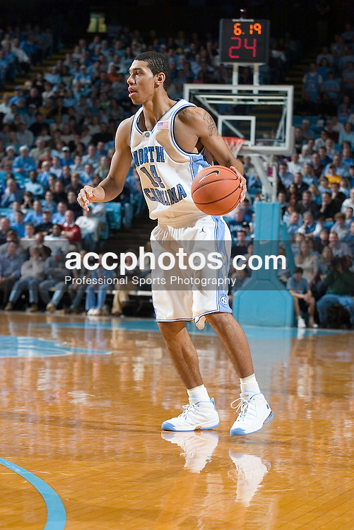 17 December 2005: North Carolina forward Danny Green (14) during a North Carolina Tar Heels 76-58 victory over the Santa Clara Broncos in the Dean Smith Center in Chapel Hill, NC.