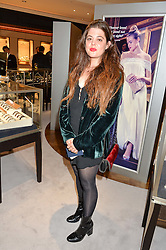 FLO GROSSMAN at a party to celebrate the opening of Mappin & Webb's Flagship Regent Street Boutique at 132 Regent Street, London on 28th June 2016.