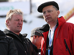 Slovenian minister for sport Igor Luksic at Flying Hill Team in 3rd day of 32nd World Cup Competition of FIS World Cup Ski Jumping Final in Planica, Slovenia, on March 21, 2009. (Photo by Vid Ponikvar / Sportida)