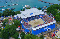 31.07.2015, Strandbad, Klagenfurt, AUT, A1 Beachvolleyball EM 2015, im Bild // during of the A1 Beachvolleyball European Championship at the Strandbad Klagenfurt, Austria on 2015/07/31. EXPA Pictures © 2015, EXPA Pictures © 2015, PhotoCredit: EXPA/ Mag. Gert Steinthaler