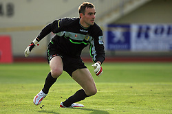 Goalkeeper of Domzale Darko Brljak at 32th Round of Slovenian First League football match between NK Domzale and NK Hit Gorica in Sports park Domzale, on May 6, 2009, in Domzale, Slovenia. Gorica won 2:0. (Photo by Vid Ponikvar / Sportida)