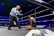 Luis MELENDEZ (COL) during the Boxing event, La Conquete Tony Yoka, round 4, heavyweight boxing bout between Tony Yoka (FRA) and Cyril Leonet (FRA) on April 7, 2018 at Dome de Paris - Palais des Sports in Paris, France - Photo Pierre Charlier / ProSportsImages / DPPI