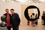 TOBY MCLELLEN, DANIEL SILVER, Frieze opening day. Regent's Park. London. 2 October 2019