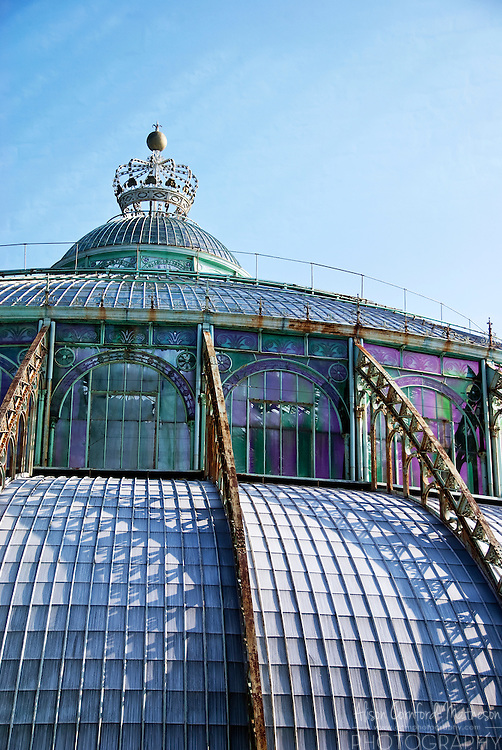 The glass dome covers the Winter Garden, 'Grote wintertuin' or 'Grand Jardin d'hiver'