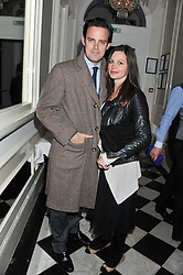 HARRY HADDEN-PATON and REBECCA NIGHT at a reception hosted by Beulah London and the United Nations to launch Beulah London's AW'11 Collection 'Clothed in Love' and the Beulah Blue Heart Campaign held at Dorsia, 3 Cromwell Road, London SW7 on 18th October 2011.