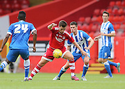 Lawrence Shankland during the Pre-Season Friendly match between Aberdeen and Brighton and Hove Albion at Pittodrie Stadium, Aberdeen, Scotland on 26 July 2015.