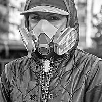 Retrato de un guerrero anónimo en la avenida Francisco de Miranda. Caracas. Venezuela. Portrait of an anonymous warrior on the Francisco de Miranda avenue.