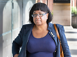 © Licensed to London News Pictures. 08/07/2019. London, UK. Shadow Home Secretary Diane Abbott arrives at Parliament. It is being reported that Ms Abbott and Labour's Shadow Chancellor John McDonell are at odds with the leadership's position on Brexit. Photo credit: Peter Macdiarmid/LNP