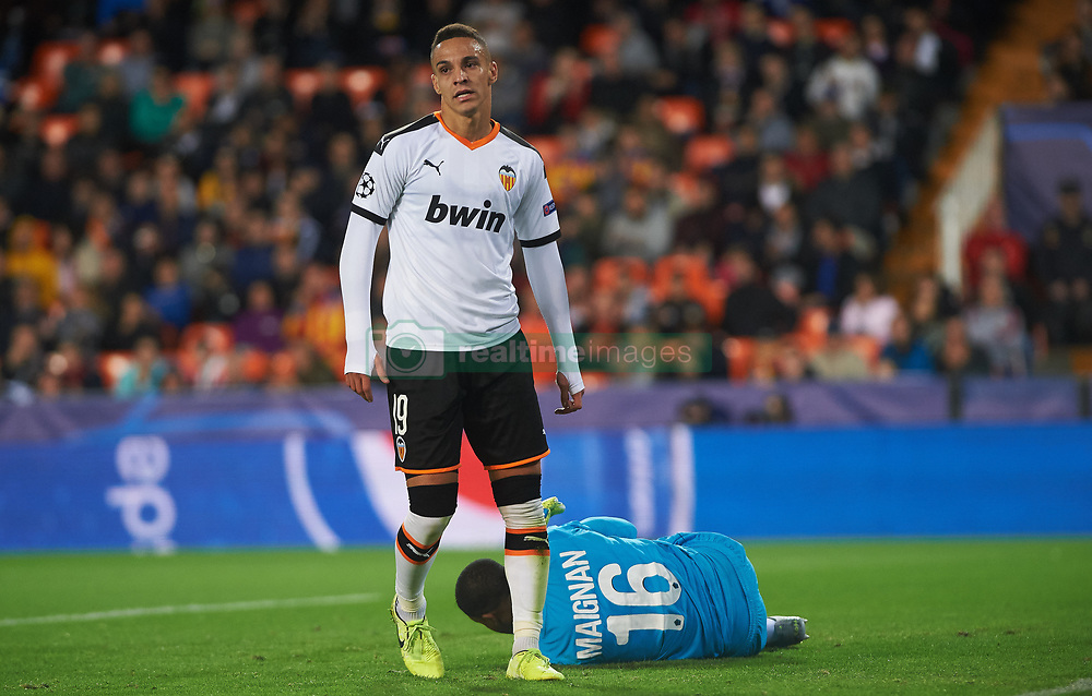 November 5, 2019, Valencia, Valencia, Spain: Rodrigo Moreno of Valencia reacts during the during the UEFA Champions League group H match between Valencia CF and Losc Lille at Estadio de Mestalla on November 5, 2019 in Valencia, Spain (Credit Image: © AFP7 via ZUMA Wire)