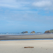 Panoramic of Cannon Beach. Oregon Coast.