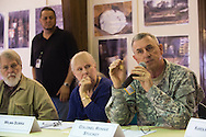Colonel Ronnie Stuckey speaks during a meeting with the EPA, Army and local residents to discuss the disposal of 15 million pounds of M6 located at Camp Minden in Minden, Louisiana on March 11, 2015. (Cooper Neill for The New York Times)