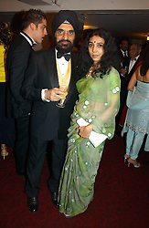 DR KARTAR LALVANI and his wife ROHINI at the 10th Anniversary Asian Business Awards 2006 at the London Grosvenor Hotel Park Lane, London on 19th April 2006.<br />