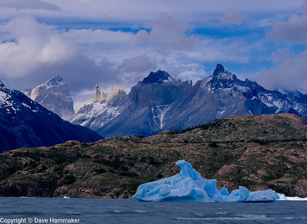 Iceburg in Grey Lake, Torres del Paine National Park, Chile
