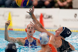 Dagmar Genee #3 of Netherlands in action during the friendly match Netherlands vs USA on February 19, 2020 in Amerena Amersfoort.