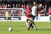 Sam Hoskins (7) on the ball during the EFL Sky Bet League 2 match between Northampton Town and Salford City at the PTS Academy Stadium, Northampton, England on 19 October 2019.