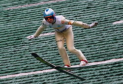 Anze Lanisek (SLO) of SSK Menges during Ski Jumping Summer Continental Cup in Kranj, on July 2, 2011, in Kranj, Slovenia. (Photo by Vid Ponikvar / Sportida)