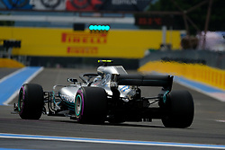 June 23, 2018 - Le Castellet, Var, France - Mercedes 44 Driver LEWIS HAMILTON (GBR) took the best time of the qualifying session from 1:30.029 during the Formula one French Grand Prix at the Paul Ricard circuit at Le Castellet - France. (Credit Image: © Pierre Stevenin via ZUMA Wire)