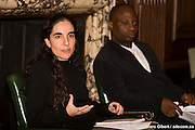 Irène Petras et Andrew Makoni, lauréats du John Humphrey 2008 -  old chansler day hall - McGill University / Montreal / Canada / 2008-11-25, © Photo Marc Gibert / adecom.ca