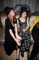 Left to right, OLIVIA INGE and PALOMA FAITH at The Rodial Beautiful Awards in aid of the charity Kids Company held in the Billiard Room at The Sanderson, 50 Berners Street, London on 3rd February 2010.
