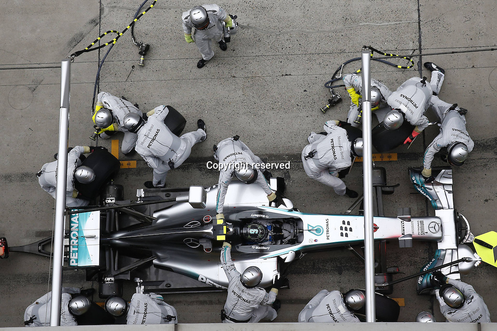 20.04.2014. SHanghai, China.  Motorsports: FIA Formula One World Championship 2014, Grand Prix of China, 6 Nico Rosberg (GER, Mercedes AMG Petronas F1 Team) in the pits for a tyre change