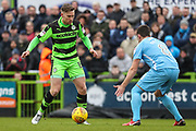 Forest Green Rovers Dayle Grubb(8) on the ball during the EFL Sky Bet League 2 match between Forest Green Rovers and Coventry City at the New Lawn, Forest Green, United Kingdom on 3 February 2018. Picture by Shane Healey.